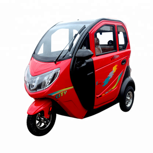 China Electric Passenger Tricycle 3 wheel electric scooter With Closed Cabin