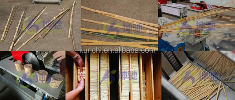 Otomatik yeni nesil bambu şiş / çubuk / kürdan yapma makinesi KUNCHI tarafından sağlanan