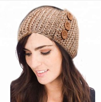 Knitted Winter Headbands For Womanbutton Patterns For Knitting