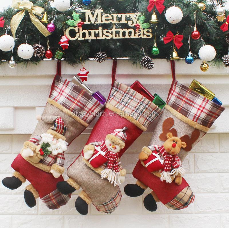 christmas socking decoration christmas stocking holders and blank gft 25 - Decorative Christmas Stocking Holders