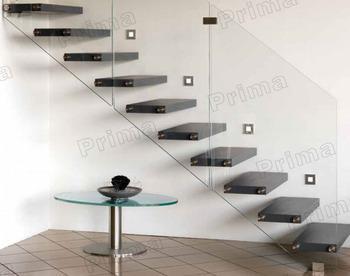 Huis interieur ruimtebesparend rechte trap moderne ontwerp rechte