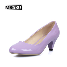 new candy color round toe ladies simple design slip on office working low heel pumps shoes it