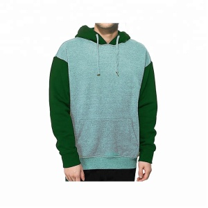 Custom Patchwork 2 Color Cotton Joggers Tracksuit Men Gym Pullover Hoodies Sportswear Clothes