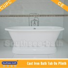 classic deep luxury enamel free standing cast iron bathtub/Double ended roll top bath on plinth