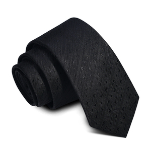 Quality Assurance Black Neck 100% Silk Tie For Man