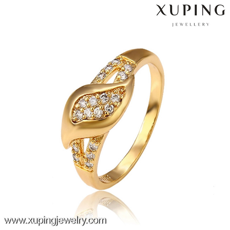 13017 Factory supply 18k gold color fashion couples finger ring