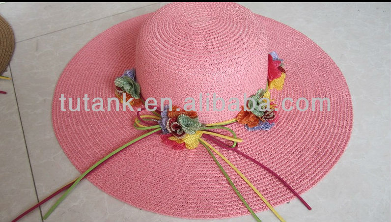 Large Brim Women's Floral Straw Sun Hat
