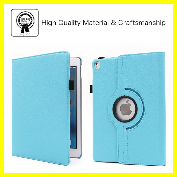 360 Leather Stand Case for iPad Pro 9.7 Case Good Price Tablet PC Covers for iPad Pro 9.7 Rotating Smart Case for iPads New