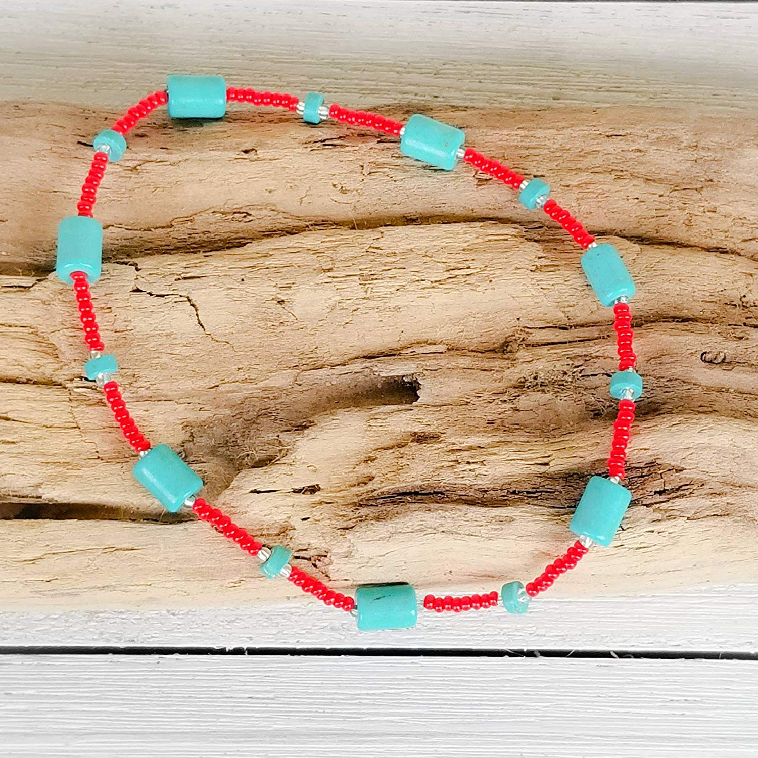 Turquoise Anklet, Beaded Anklet, Native American Jewelry, Turquoise Ankle Bracelet, Turquoise Beaded Anklet, Beach Ankle Bracelet, Bohemian