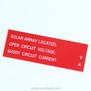 China Factory Engraved Warning Custom ABS Plastic Solar Power Kits With Adhesive
