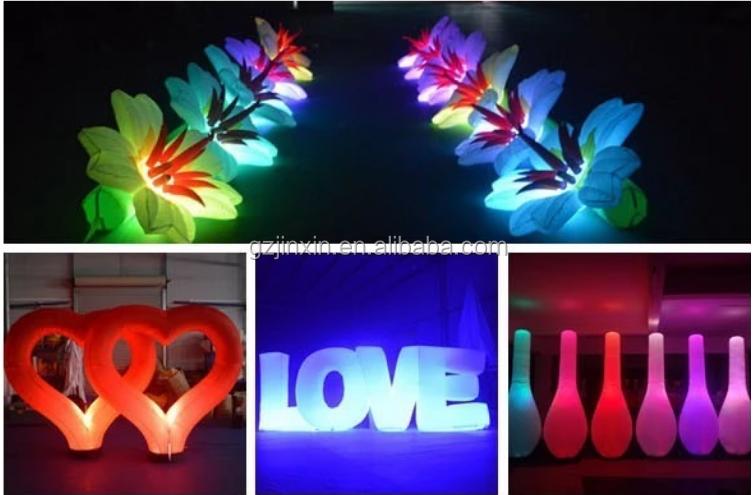 Custom Christmas LED Inflatable Light Star Yard Party Lights Decoration LED Air Stars Balloon For Garden