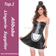 Sexy Girls black sexy French Maid Of mini lace Dresses,Adult Shop French Maid Uniform Dress halloween costumes