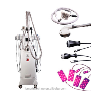 Professional vacuum + auto-roller+Diode laser +RF cavitation quickly weight loss tips perfect slimming velashape