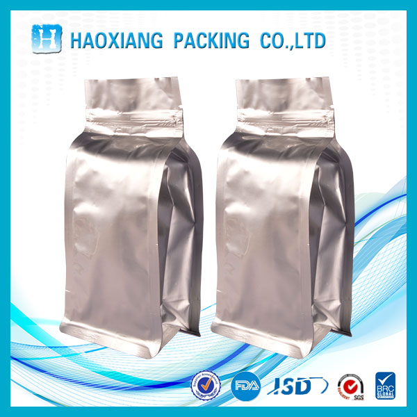 Side gusset Custom Printing vacuum bags with tear mouth and zipper