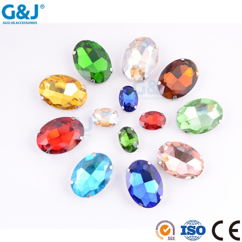 GJ brand factory derect sale sew on resin stone for garment accessories