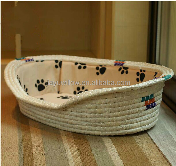 100% handmade wicker cat bed oop pet dog cat teepee tent bed wicker dog bed