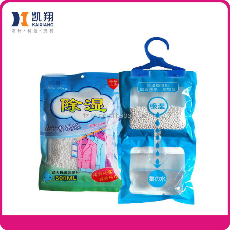 Hygroscopic Capacity 500ml 1000ml Dehumidifier Bags Household Hanging Air Freshener Bag
