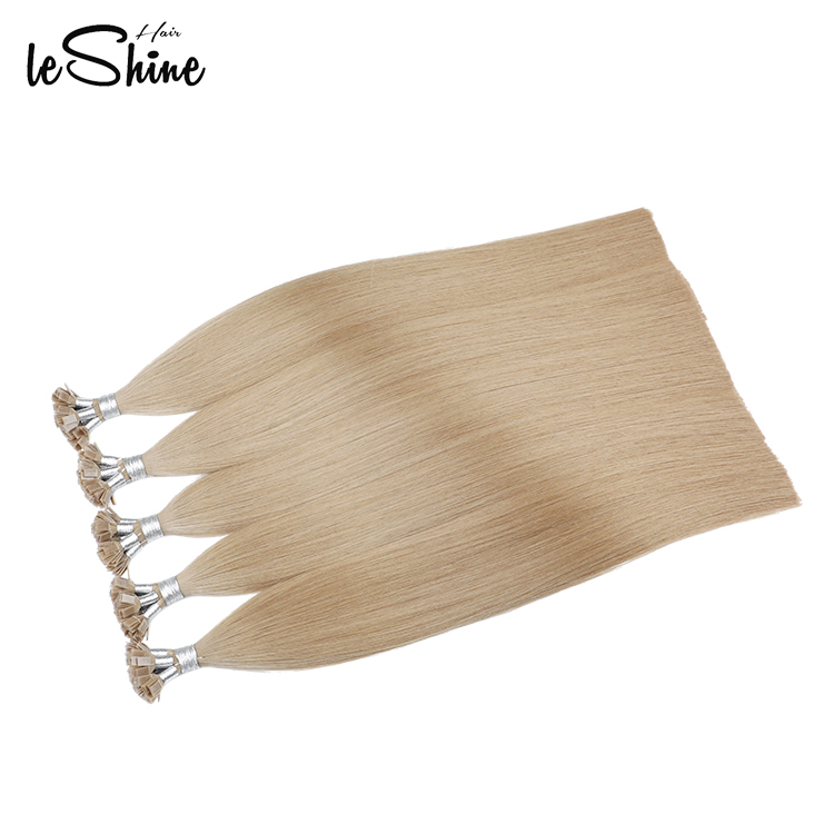 Prebonded Hair Double Drawn Russian Remy Human Flat Tip Hair Extension