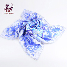High Quality Twill 14mm Digital Printed Silk Scarf Made In India