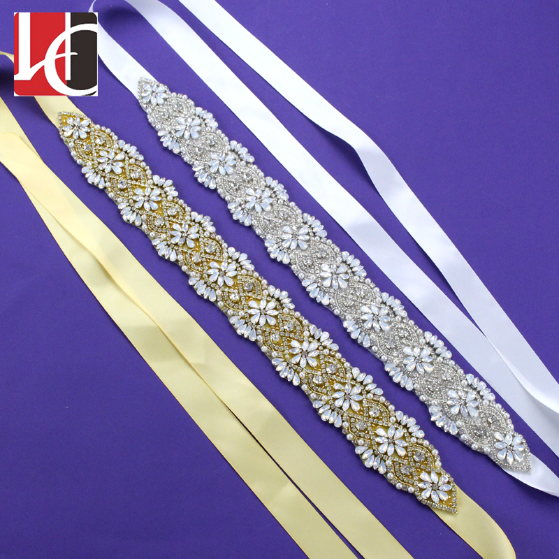 Azaleas Women Elegant Sash//Wedding Applique Rhinestones Hot Fix or Sew On