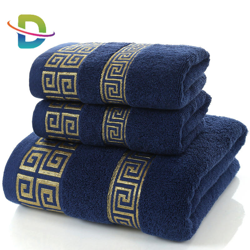 High quality set of 3 bath towel 100 <strong>cotton</strong>