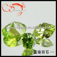 apple green gems light green semi precious stone CZ0016