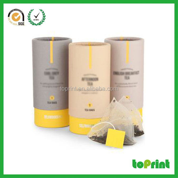Customized personalized tea package box cardboard cylinder tube for coffee and tea