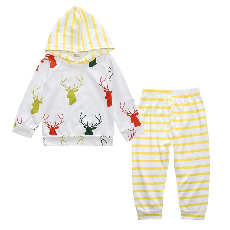 algodn orgnico beb recin nacido nio nia ropa verano con capucha impreso ciervos infantiles moda