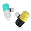 New Capsules Connector for Iphone Mini Pill Shape USB Charger Audio Adapter Earphone Converter