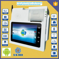 Tablet payment Terminal/ Restaurant POS System with Barcode Scanner, 58mm Printer, Bluetooth