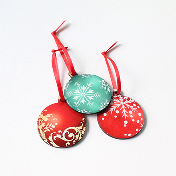Blank sublimation Wood vintage christmas ornaments Christmas ball tree decoration