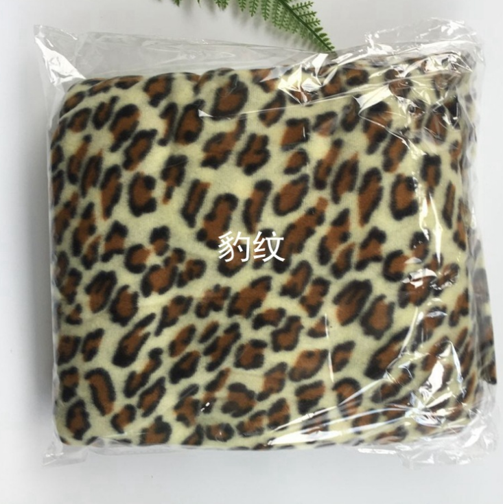 TV blanket double layer leopard print sexy warm blanket