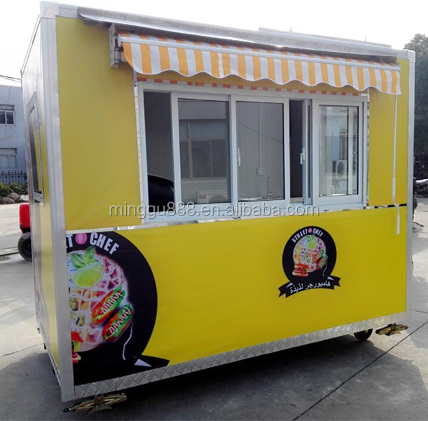 Top quality promotional mobile fast bike food cart hamburgers carts food cart for sale