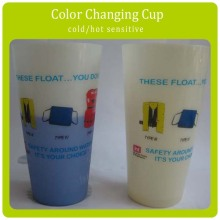 Custom Design Magic Heat Color Changing Plastic Cup