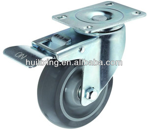 3 '' Swivel Caster wheel with brake, PU material caster