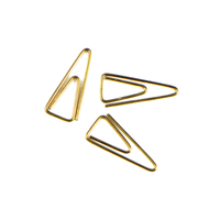 New cute colored gold triangle design office school paper clips stationery,candy student bookmark
