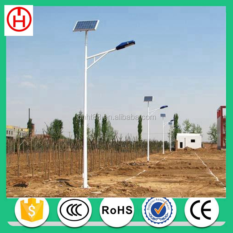 6m 60watt auto sensing solar led street light system