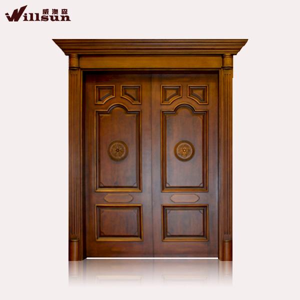 Nuevo producto alibaba china puertas de madera de dise o for Diseno puertas de madera principales