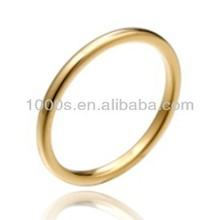 Gold plated Tungsten band finger ring
