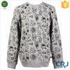 All Over Graphic Crew Neck Hoodie Printing