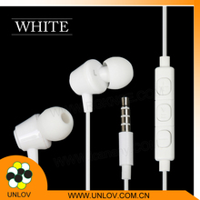 Stereo earphone for mobile phone , wired silicone earphone rubber cover