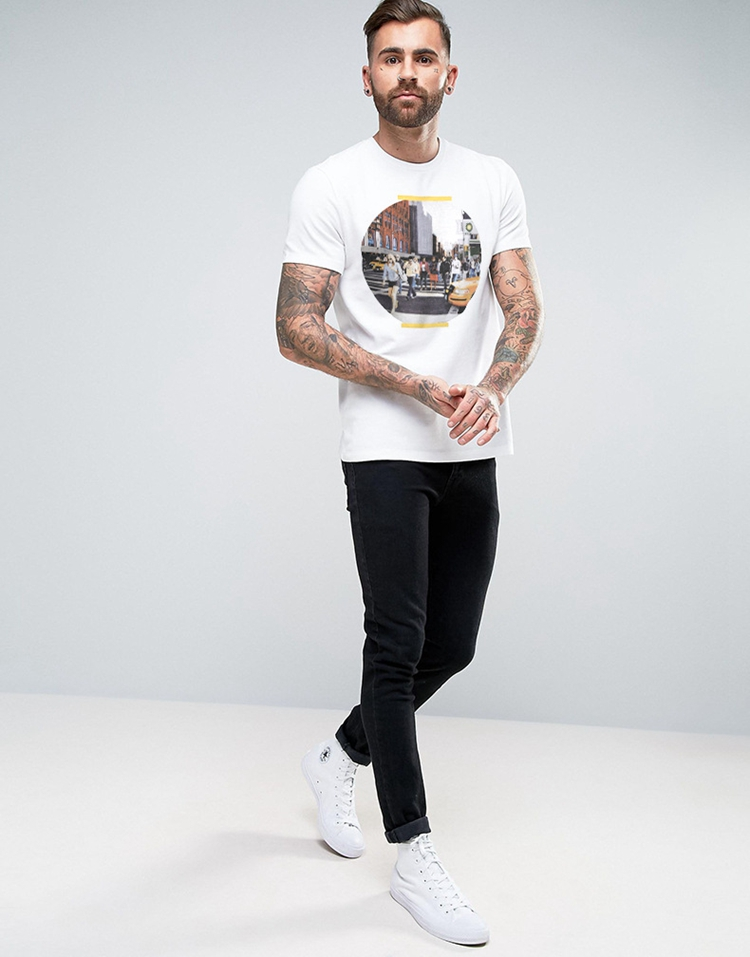 Guangzhou 3D Direct Printing Low Moq Printed Mens White T Shirts In China