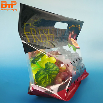 Disposable plastic fruit packaging mesh bag for supermarket