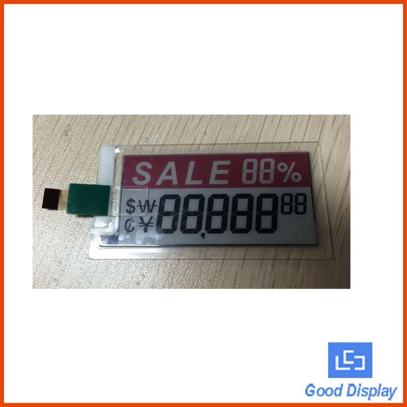 color epaper led small display using in price tag lcd manufacturer
