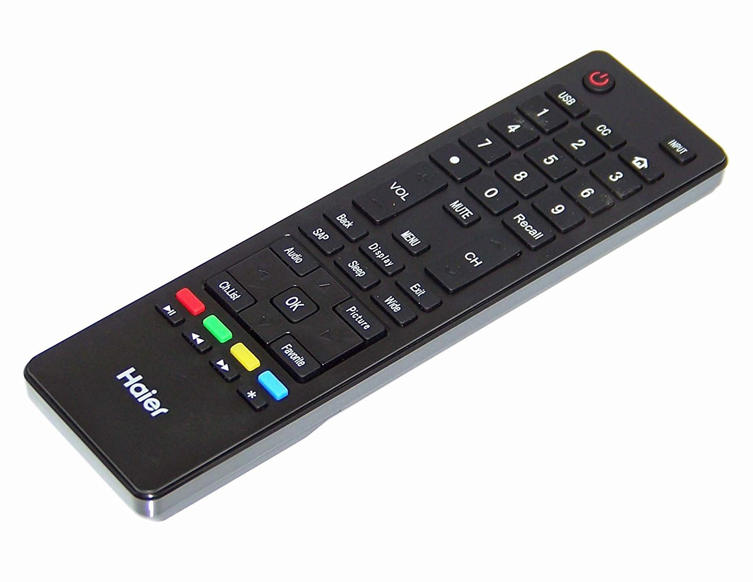 OEM Haier Remote Control Originally Shipped with: 40D3505C, 32D3005H