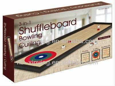 3 in1 Table Top Shuffeboard Game