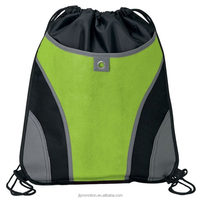 Top quality lightweight and practical Sports Backsack with a mesh ventilated front pocket with a hook and loop closure