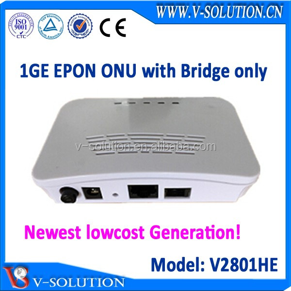 Good compatiblity with BDCOM Huawei OLT fiber optical modem 1GE GEPON ONU