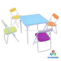 Children furniture sets 5-pieces kids folding table and chairs for study wholesale
