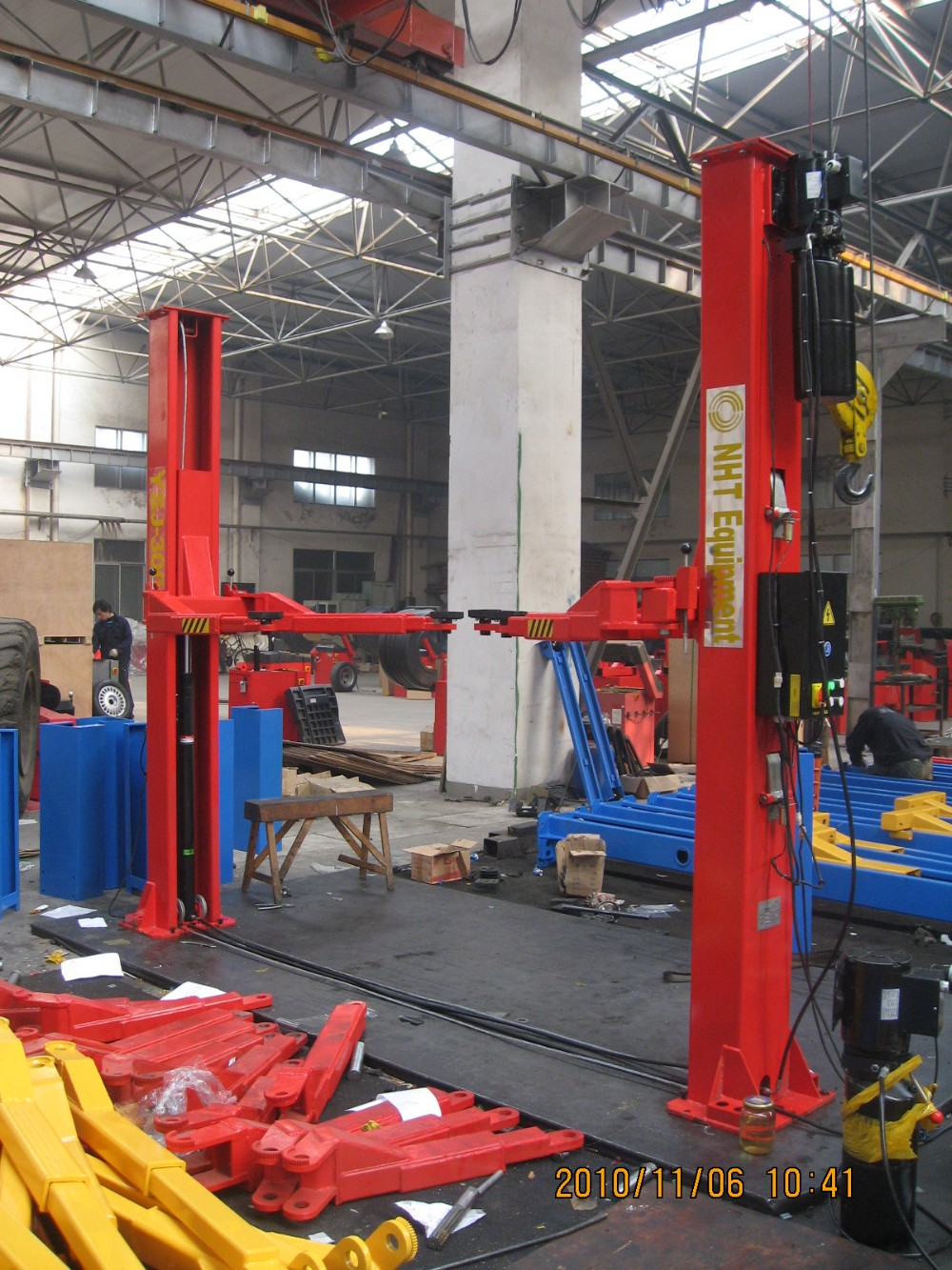 chinese direct factory high quality ce hydraulic 2 post backyard
